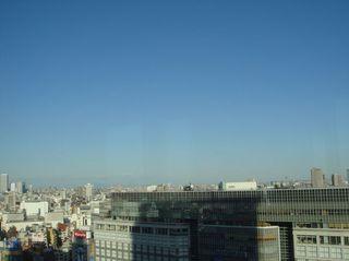 窓からの眺望新宿方面